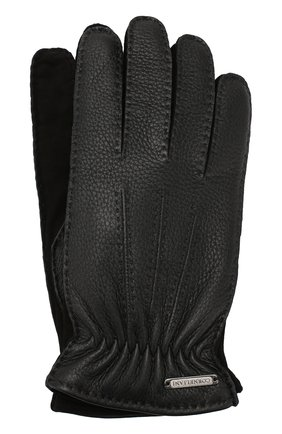 Мужские кожаные перчатки CORNELIANI черного цвета, арт. 84Q304-9820585/00 | Фото 1