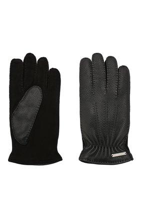 Мужские кожаные перчатки CORNELIANI черного цвета, арт. 84Q304-9820585/00 | Фото 2