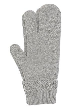 Мужские перчатки из смеси шерсти и кашемира MAISON MARGIELA серого цвета, арт. S50TS0007/S16825 | Фото 1