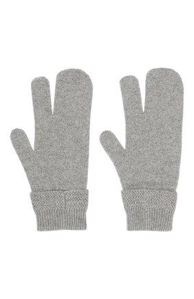 Мужские перчатки из смеси шерсти и кашемира MAISON MARGIELA серого цвета, арт. S50TS0007/S16825 | Фото 2
