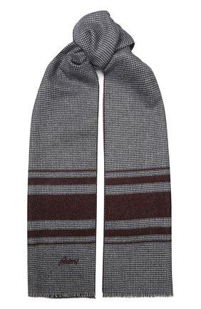 Мужской шарф из смеси шелка и кашемира BRIONI бордового цвета, арт. 031E00/08374 | Фото 1