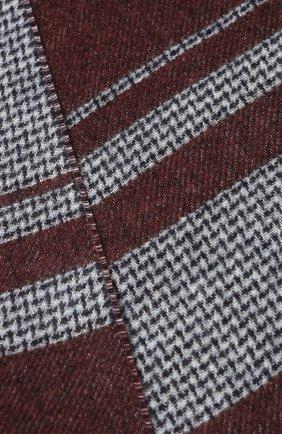 Мужской шарф из смеси шелка и кашемира BRIONI бордового цвета, арт. 031E00/08374 | Фото 2