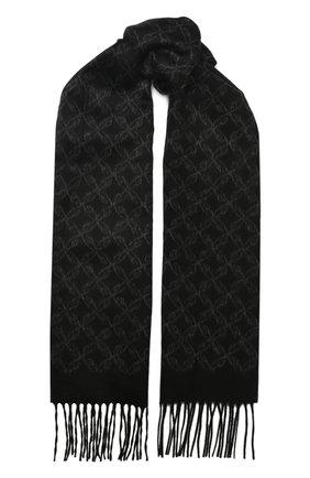 Мужской шарф из смеси шелка и кашемира BRIONI черного цвета, арт. 031E00/08382   Фото 1