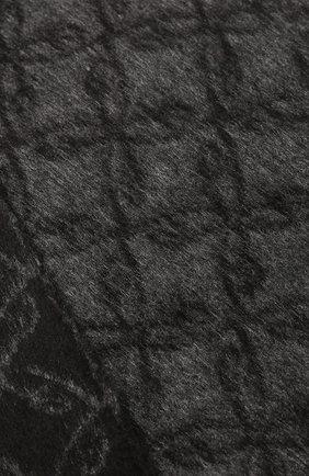 Мужской шарф из смеси шелка и кашемира BRIONI черного цвета, арт. 031E00/08382   Фото 2