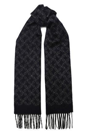 Мужской шарф из смеси шелка и кашемира BRIONI синего цвета, арт. 031E00/08382 | Фото 1