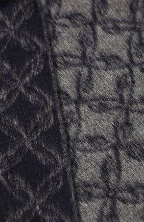 Мужской шарф из смеси шелка и кашемира BRIONI синего цвета, арт. 031E00/08382 | Фото 2