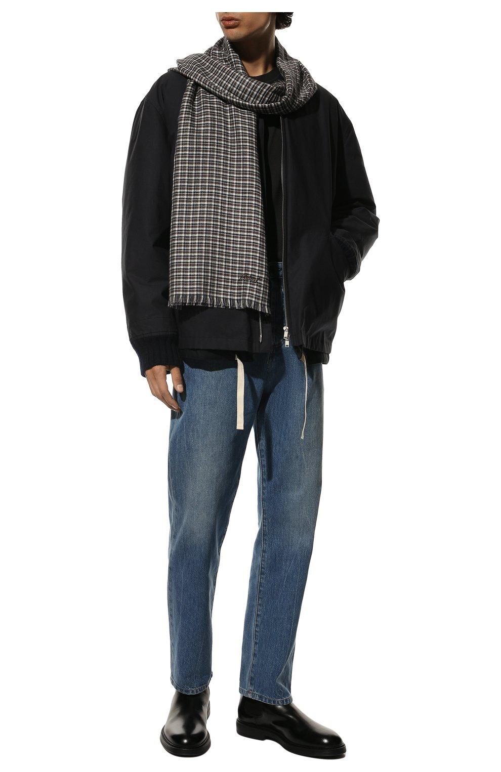 Мужской шарф из смеси кашемира и шелка BRIONI разноцветного цвета, арт. 03TD00/08369   Фото 2