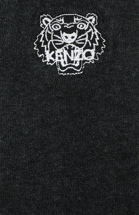 Мужские хлопковые носки KENZO темно-серого цвета, арт. F858SM240JSE | Фото 2