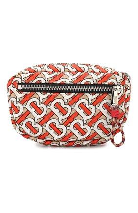 Мужская текстильная поясная сумка BURBERRY оранжевого цвета, арт. 8014471 | Фото 1