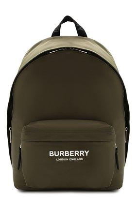 Мужской текстильный рюкзак BURBERRY зеленого цвета, арт. 8016110 | Фото 1
