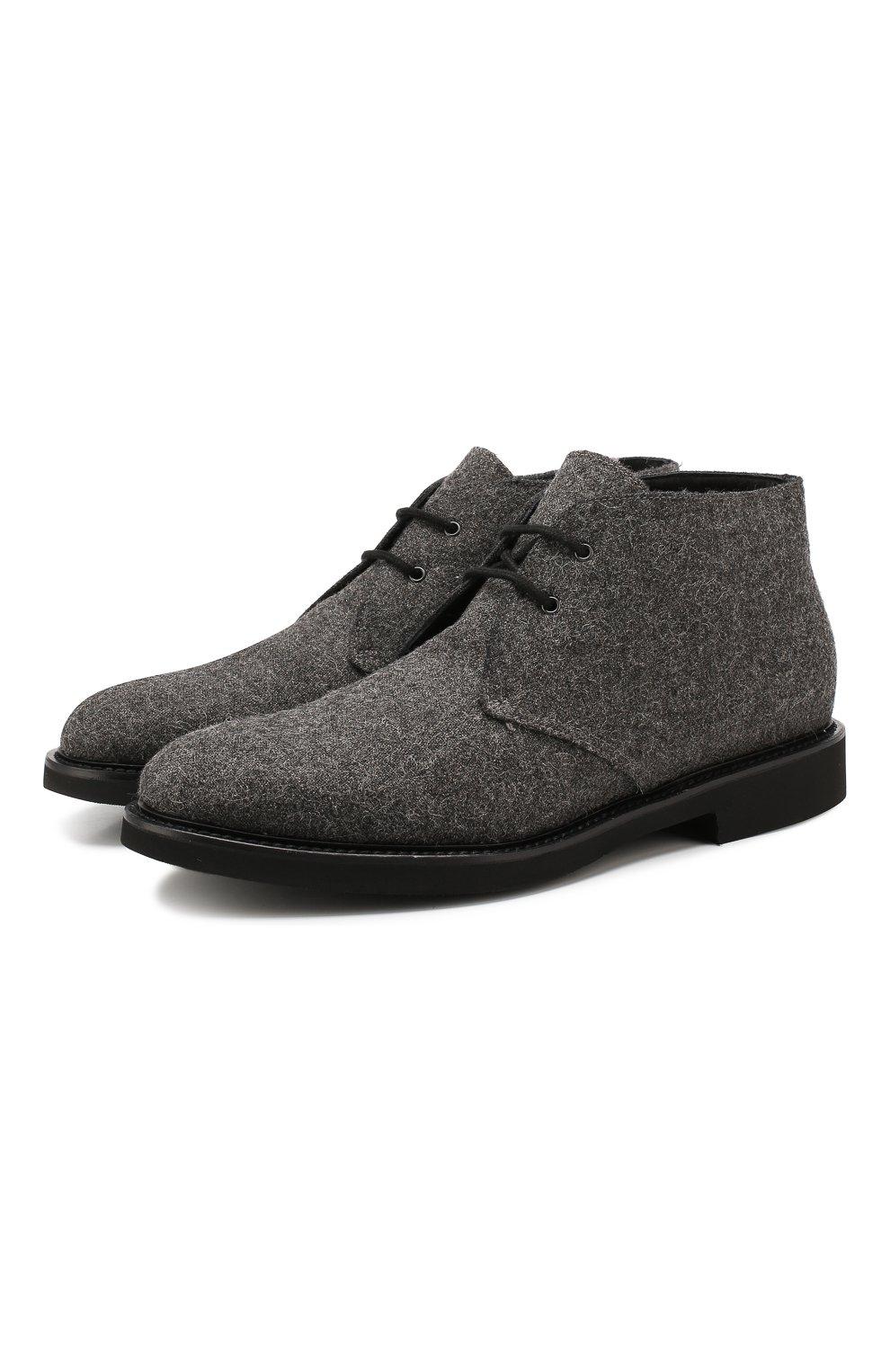 Мужские текстильные ботинки DOUCAL'S серого цвета, арт. DU2140GEN0UM032NN05 | Фото 1