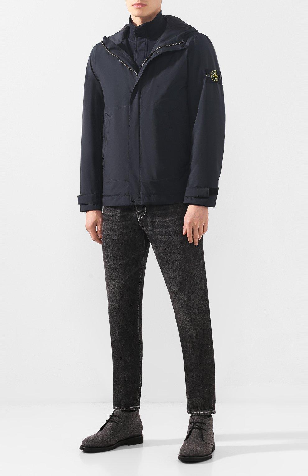 Мужские текстильные ботинки DOUCAL'S серого цвета, арт. DU2140GEN0UM032NN05 | Фото 2