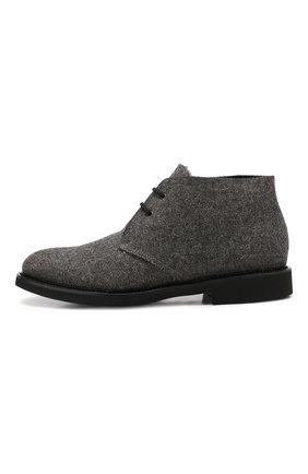 Мужские текстильные ботинки DOUCAL'S серого цвета, арт. DU2140GEN0UM032NN05 | Фото 3