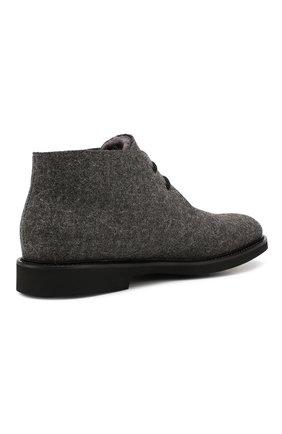 Мужские текстильные ботинки DOUCAL'S серого цвета, арт. DU2140GEN0UM032NN05 | Фото 4