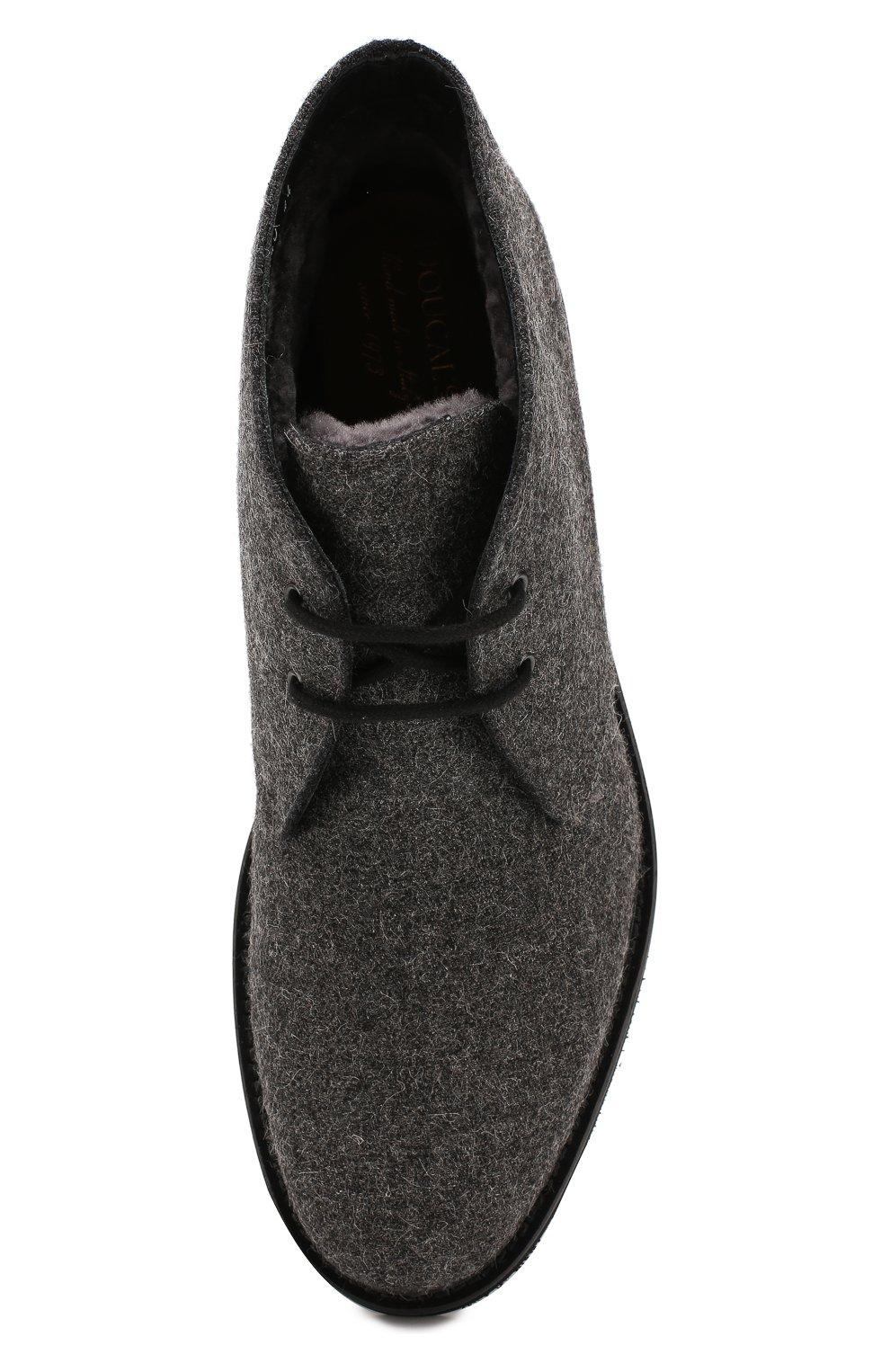 Мужские текстильные ботинки DOUCAL'S серого цвета, арт. DU2140GEN0UM032NN05 | Фото 5