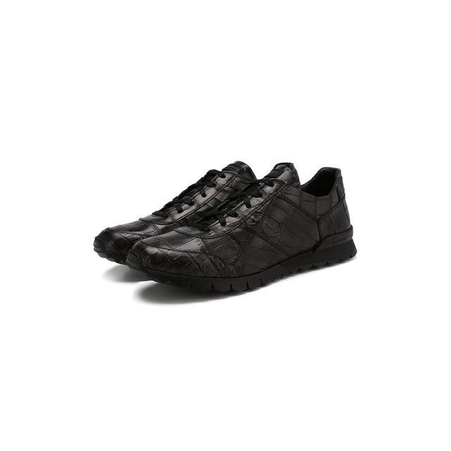 Кроссовки из кожи крокодила Kiton — Кроссовки из кожи крокодила