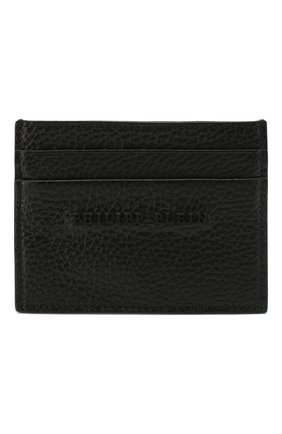 Мужской кожаный футляр для кредитных карт PHILIPP PLEIN черного цвета, арт. MBC0021 | Фото 1