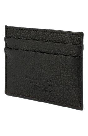 Мужской кожаный футляр для кредитных карт PHILIPP PLEIN черного цвета, арт. MBC0021 | Фото 2