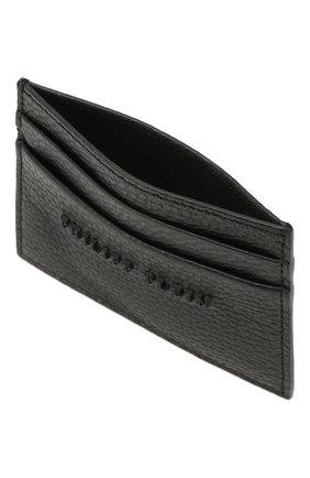 Мужской кожаный футляр для кредитных карт PHILIPP PLEIN черного цвета, арт. MBC0021 | Фото 3