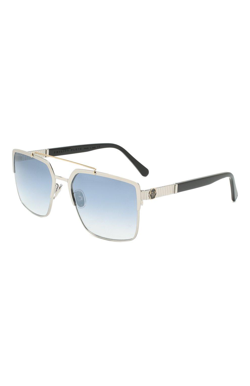 Мужские солнцезащитные очки PHILIPP PLEIN серого цвета, арт. UES0065 | Фото 1