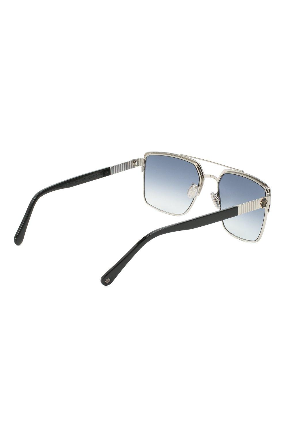Мужские солнцезащитные очки PHILIPP PLEIN серого цвета, арт. UES0065 | Фото 3