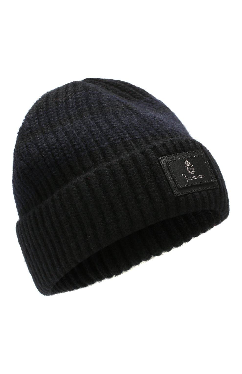 Мужская шерстяная шапка BILLIONAIRE черного цвета, арт. MAC0495 | Фото 1