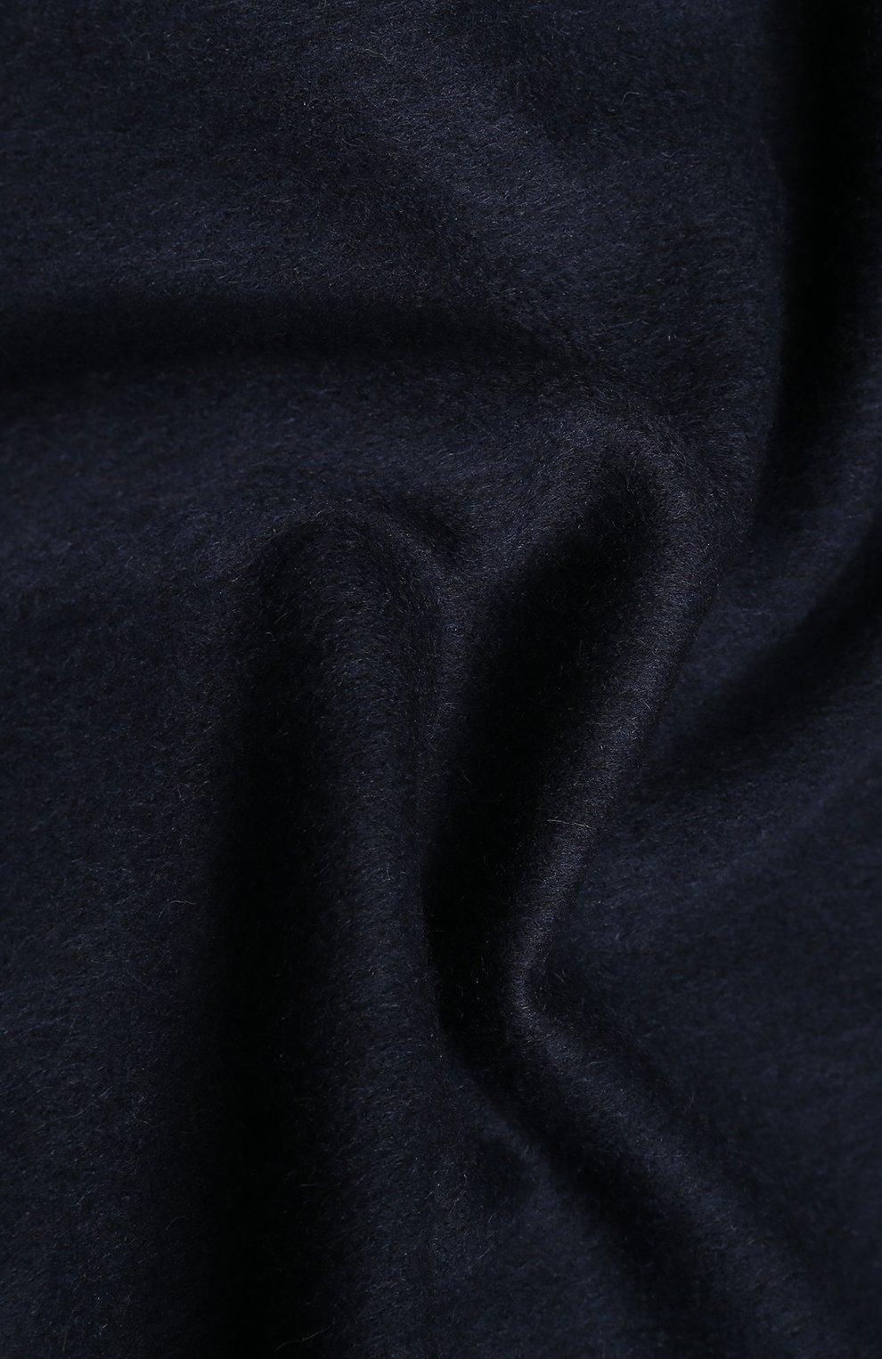 Мужской шерстяной шарф HUGO темно-синего цвета, арт. 50417758   Фото 2