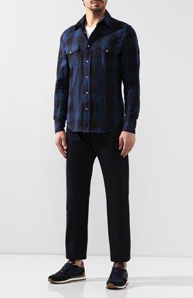 Мужская хлопковая рубашка TOM FORD темно-синего цвета, арт. 6FT522/94MEKI | Фото 2