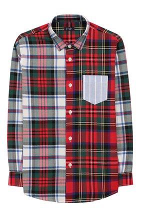 Детская хлопковая рубашка IL GUFO разноцветного цвета, арт. A19CL164C3109/5А-8А | Фото 1