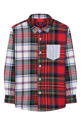 Детская хлопковая рубашка IL GUFO разноцветного цвета, арт. A19CL164C3109/2А-4А | Фото 1