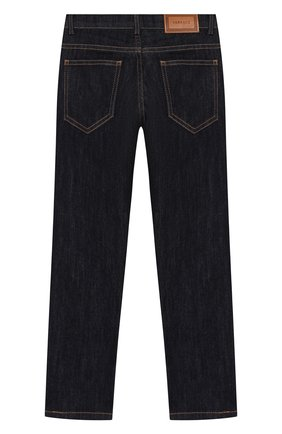 Детские джинсы VERSACE темно-синего цвета, арт. YD000070/YA00082/6A   Фото 2