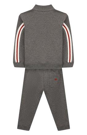 Детский комплект из кардигана и брюк EMPORIO ARMANI серого цвета, арт. 6GHV01/4J2MZ | Фото 2