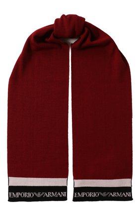 Детский шарф EMPORIO ARMANI бордового цвета, арт. 404596/9A454 | Фото 1