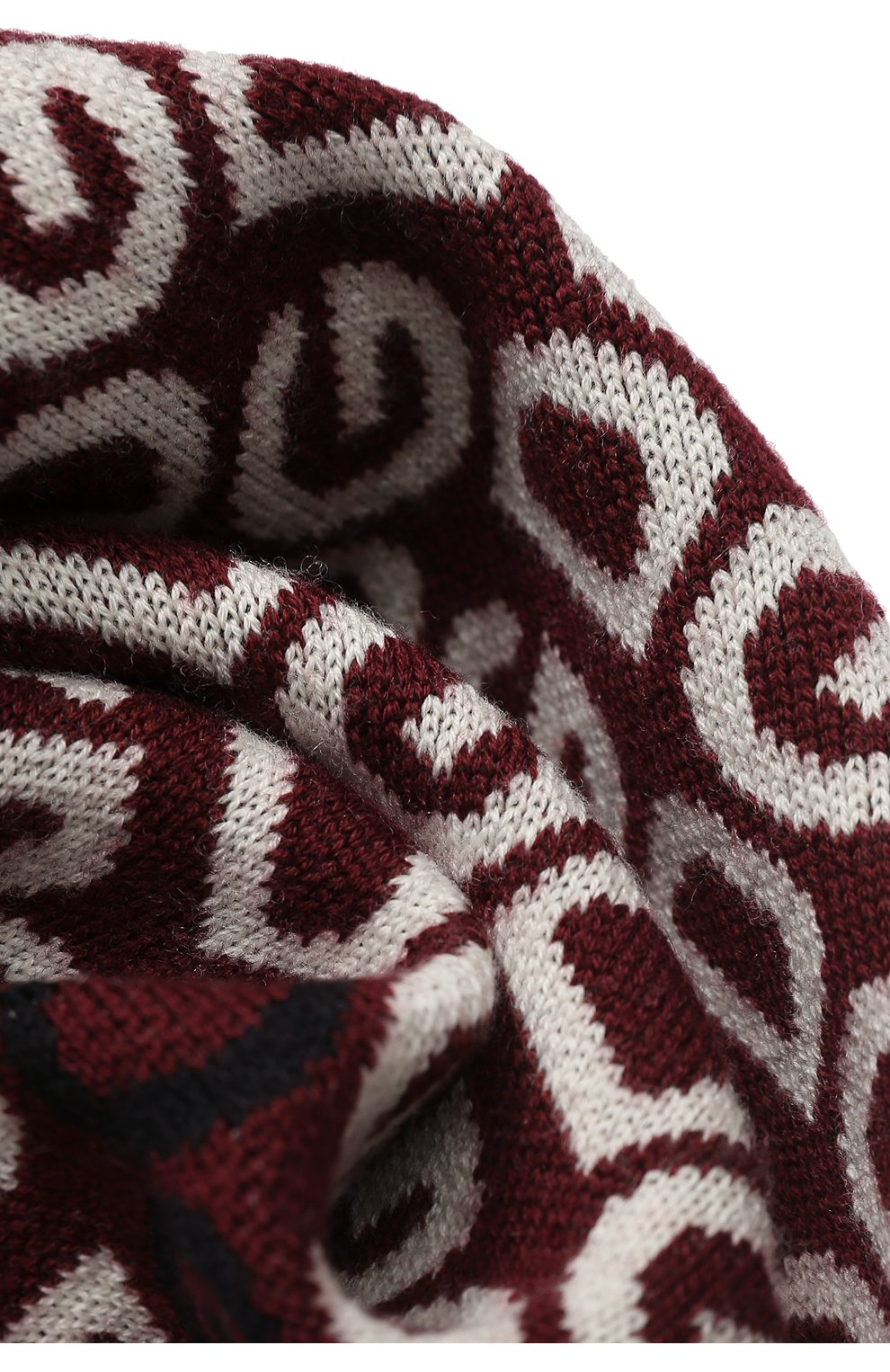 Детский шарф из шерсти и кашемира DOLCE & GABBANA бордового цвета, арт. LBKA32/JAVSL | Фото 2