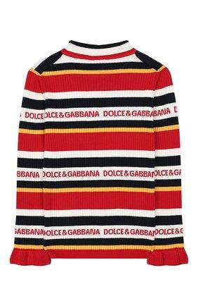 Детский пуловер из хлопка и кашемира DOLCE & GABBANA разноцветного цвета, арт. L5KW56/JAMC6/2-6 | Фото 2