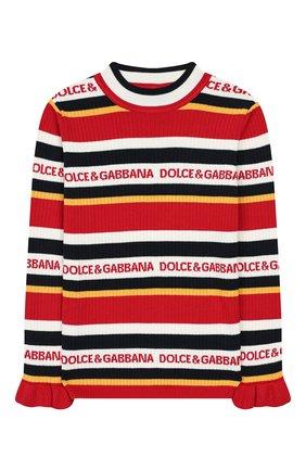 Детский пуловер из хлопка и кашемира DOLCE & GABBANA разноцветного цвета, арт. L5KW56/JAMC6/8-14 | Фото 1