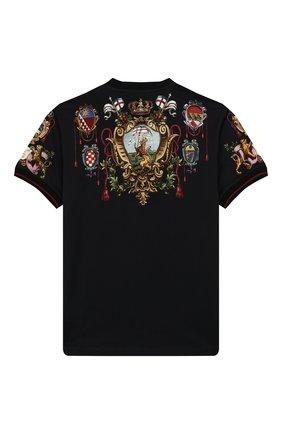 Детская хлопковая футболка DOLCE & GABBANA черного цвета, арт. L4JT7L/G7TNZ/2-6 | Фото 2