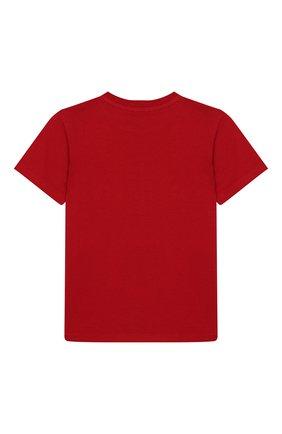 Детский хлопковая футболка DOLCE & GABBANA красного цвета, арт. L2JT9P/G7TBU | Фото 2