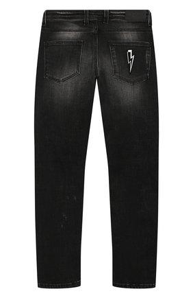 Детские джинсы NEIL BARRETT KIDS черного цвета, арт. 020556 | Фото 2