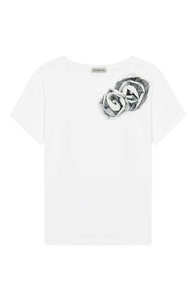 Детская хлопковая футболка DESIGNERS CAT бежевого цвета, арт. 100000K01000378/4A-8A | Фото 1