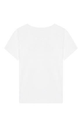Детская хлопковая футболка DESIGNERS CAT бежевого цвета, арт. 100000K01000378/4A-8A | Фото 2