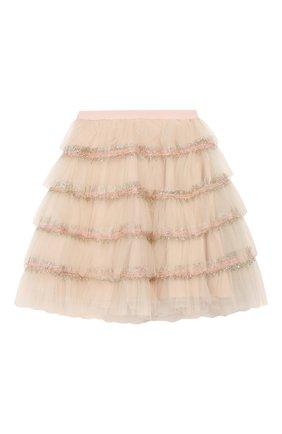 Детская юбка DESIGNERS CAT розового цвета, арт. 100000K01000373/4A-8A | Фото 1