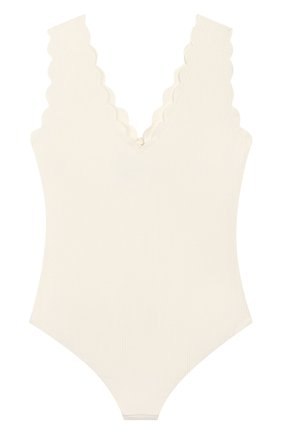 Детского слитный купальник MARYSIA BUMBY белого цвета, арт. B0038   Фото 2