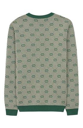 Пуловер из шерсти и хлопка | Фото №2