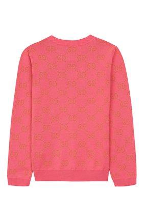 Детский хлопковый пуловер GUCCI розового цвета, арт. 571723/XKAHM | Фото 2