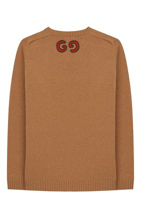 Детский шерстяной пуловер GUCCI бежевого цвета, арт. 570119/XKAQB | Фото 2