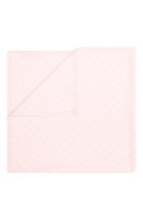 Детского шерстяное одеяло GUCCI розового цвета, арт. 417865/3K200 | Фото 1