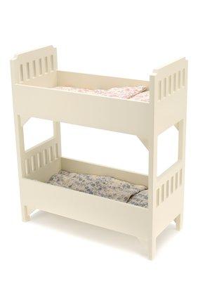 Детского игрушка двухъярусная кровать мини MAILEG белого цвета, арт. 11-6030-00 | Фото 1