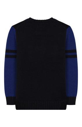 Детский хлопковый пуловер POLO RALPH LAUREN синего цвета, арт. 323749926 | Фото 2