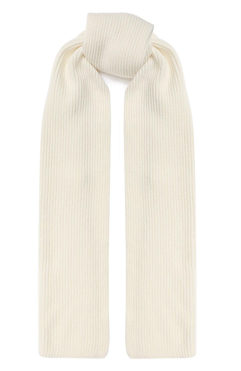Женский кашемировый шарф JOHNSTONS OF ELGIN белого цвета, арт. HAA01684/W | Фото 1